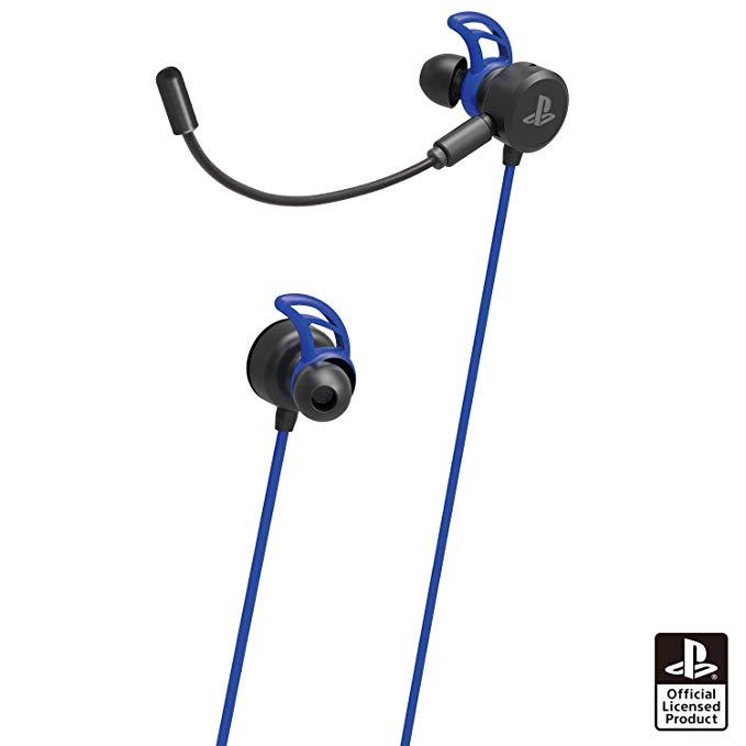 ホリゲーミングヘッドセット インイヤー for PlayStation 4 ブルー