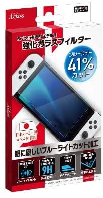 Switch有機ELモデル用強化ガラスフィルター【ブルーライトカット】