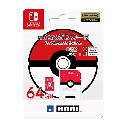 ポケットモンスターmicroSDカード 64GBfor Nintendo Switch モンスターボール
