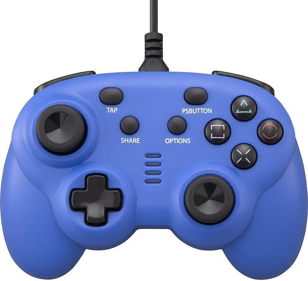 CYBER・ワイヤードコントローラー ミニ ブルー(PS4/SWITCH用)